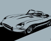 Jaguar E-Type Convertible (Series 1 / Series 2 / Series 3). Choose your Size, Color, Material & Model Series