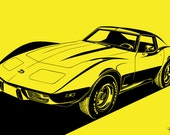 Chevrolet Corvette Stingray (C3) . Choose your Size, Material, Color, & Model Year (1975, 1976, 1977, 1978, 1979)