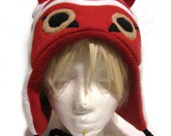 Princess Mononoke Inspired Fleece Hat
