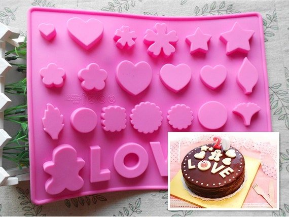 1pcs love Silicone Cake Mold Handmade Mold Chocolate Mould Ice Mold pudding mould handmade soap mold Baking tools