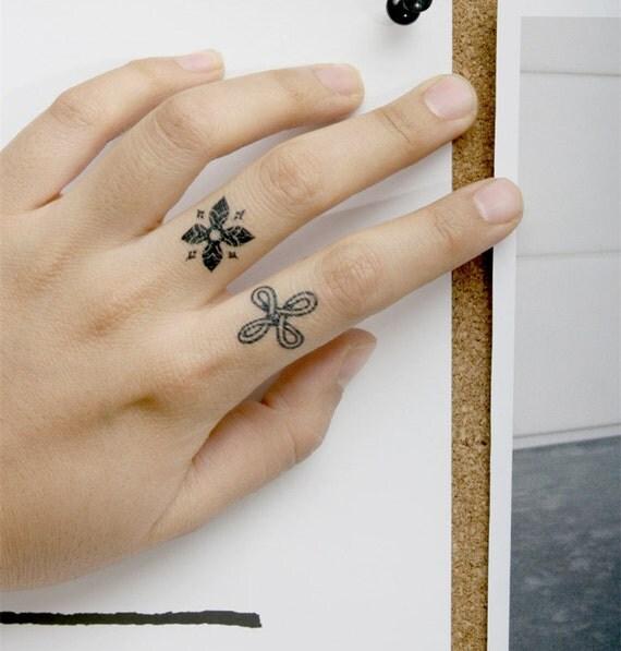 Cool finger tattoo classic design temporary tattoo tattoo for Temporary finger tattoos