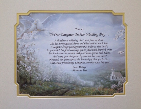 Wedding Gift For Daughter Personalized Gift Print To Our