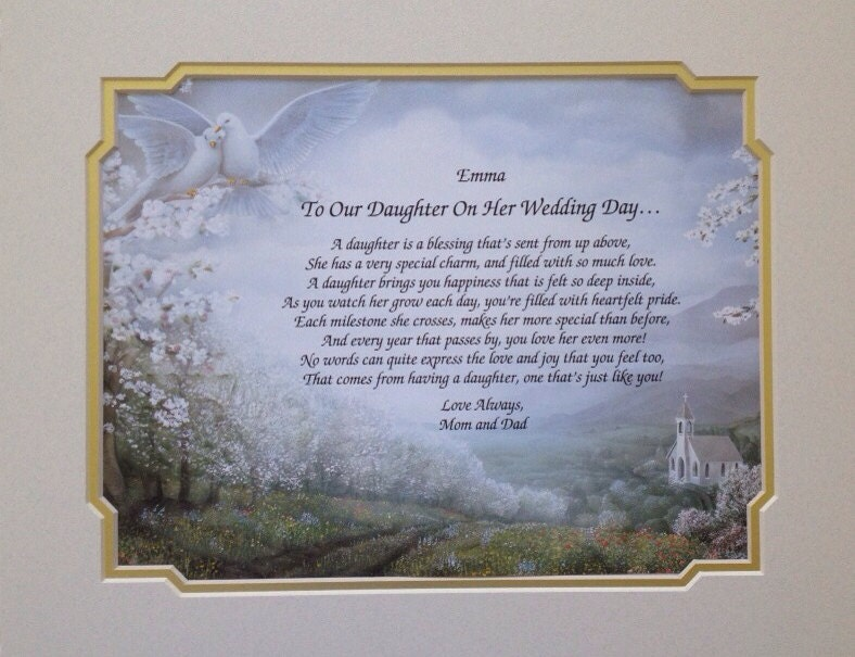 Wedding Gift For Our Daughter : Wedding Gift For Daughter Personalized To by WePersonalizeGifts