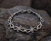 Sterling Silver S Hook Chain Bracelet