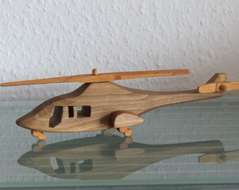 Bell 222 helicopter HANDMADE wood