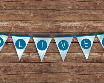 Blue Elephant Party Bunting