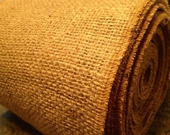"""Burlap By the ROLL - 14"""" wide Natural Burlap Table Runner - Wedding or Party - By the Roll or Custom Lengths"""