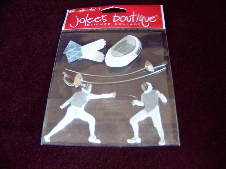 Jolee S Boutique Fencing Stickers Scrapbook
