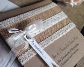 Handmade Rustic Cream Wedding Invitation