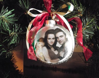 "Twilight inspired ""From Our House To Yours"" Christmas ornament"