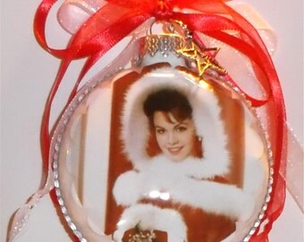 Annette Funicello inspired Tribute Christmas Ornament