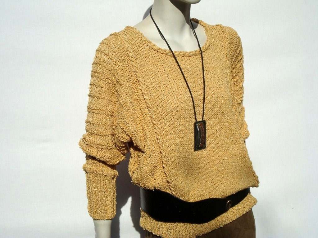 Sweater Cotton Top-Losse Sweater-Oversized Sweater-Women