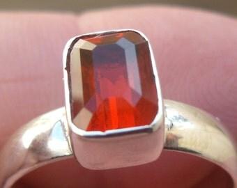 Opal gem taxco silver ring sz  7.75