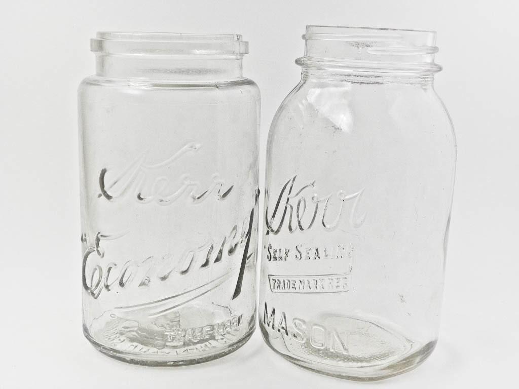 two kerr glass jars economy wide mouth self by weelilglassie. Black Bedroom Furniture Sets. Home Design Ideas