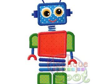 Robot Baby Boy 4x4 5x7 6x10 Applique Design Embroidery Machine -Instant Download File