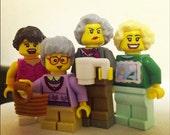 The Golden Girls Brick People Toy Set