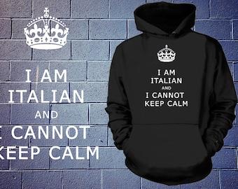 Keep Calm Hoodie Gift For Italian Hooded Sweater Sweatshirt