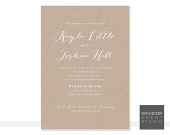 Kraft Paper Wedding Invitation Ensemble