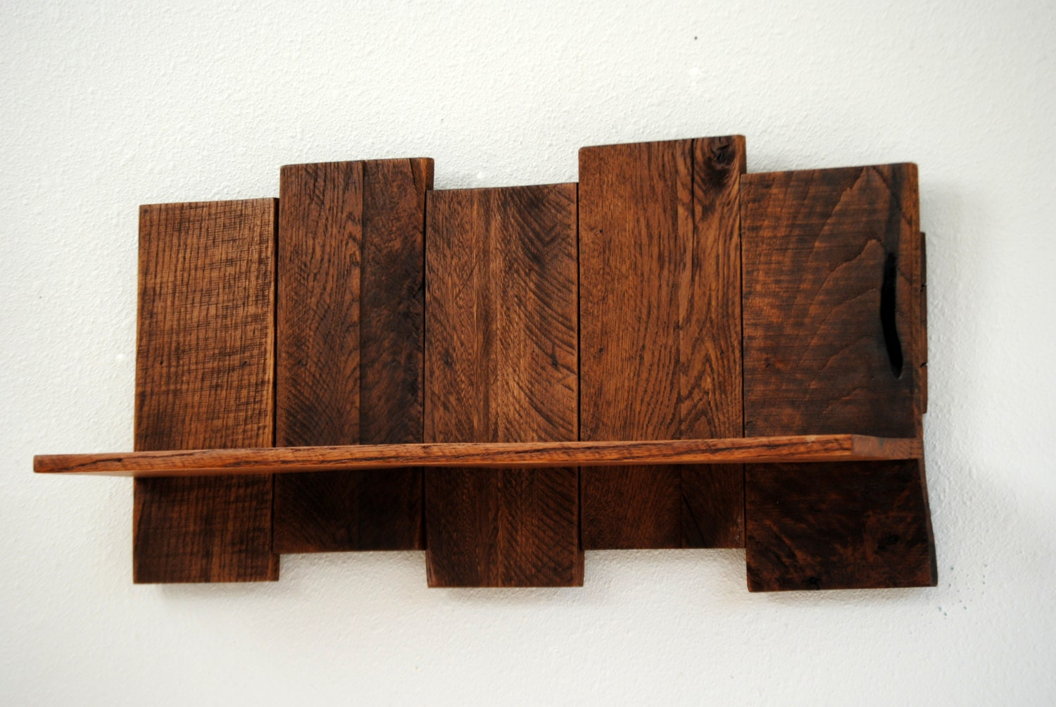 Wood Wall Shelves ~ Wooden shelf organizer display shelving unit