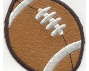 FOOTBALL, Superbowl, BROWN VINYL transfer, applique, Iron or Sew On patch by Cedar Creek Patch Shop