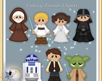 Galaxy Friends Clipart, Fantasy, Movie