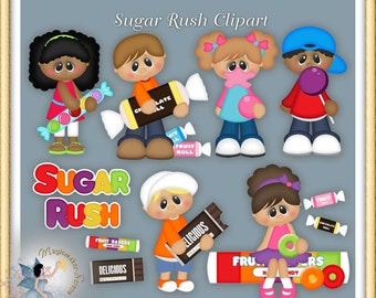 Candy Clipart, Chocolate Clipart, Sugar Rush