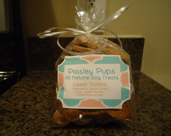 Sweet Potato Dog Cookies- 8 oz. Available in all sizes!