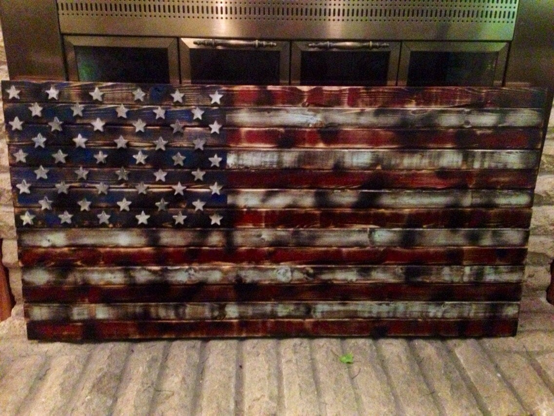 Fantastic About Wooden American Flag On Pinterest Decor