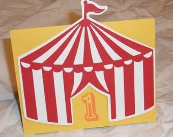 Circus Birthday Invitations (8)