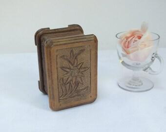 Wooden Trinket Box / Home Decor / Bedroom Decor / Carved Trinket Box, Floral