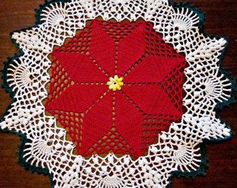Popular items for crochet poinsettia on Etsy