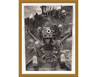 "1939 Vintage B&W Print / Britain prepares for war WWII / 9"" x 13"" / Buy 2 ads Get 1 FREE"