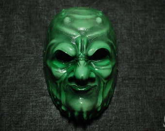 Demon mask green orc - glossy