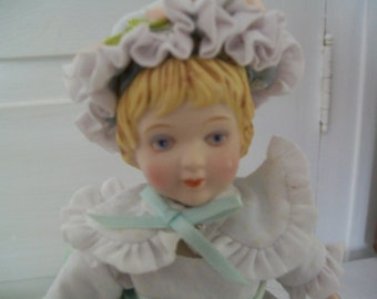 Vintage Avon Victorian Collector Porcelain Doll inspired by designs by Kate Greenaways