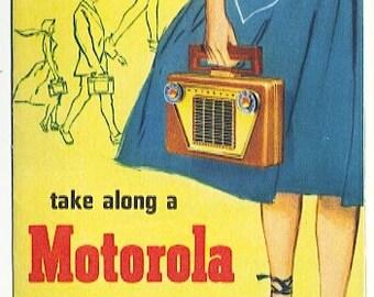 Motorola Roto-Tenna Portables Brochure from 1950s in color