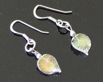 Artisan - Sterling Silver Dichroic Glass Earrings E140