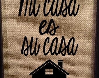 mi casa es su casa etsy uk. Black Bedroom Furniture Sets. Home Design Ideas