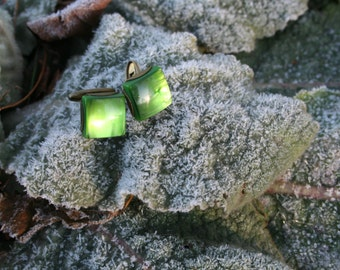 Cuff Links Vintage Green from 1960