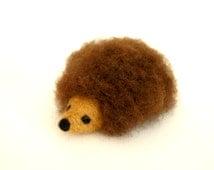 Needle Felted Hedgehog, Miniature Hedgehog Sculpture / Toy / Figurine, Handmade hedgehog