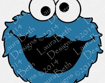 Cookie Eating Monster Digital Design - Full Embroidery Designs INSTANT DOWNLOAD ~ 4x4, 5x7, and 6x10 Sizes