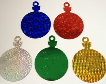 15 Large Bauble Ornament die cuts for christmas cards/toppers cardmaking scrapbooking