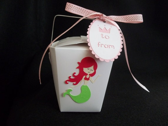 Party Favor Chinese Take Out Boxes : Mermaid chinese take out favor boxes by