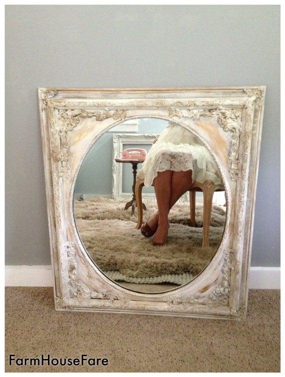 Ornate Baroque Mirror Shabby Chic Mirror Chalk By