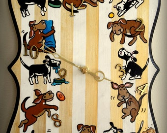 Hand-Painted and Fun Pet Wall Clock! (Starring YOUR Pet!)