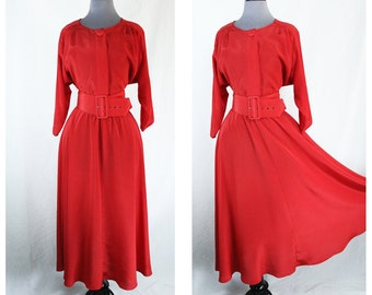 Vintage Jody California Red Dress • M/L • Material Collections