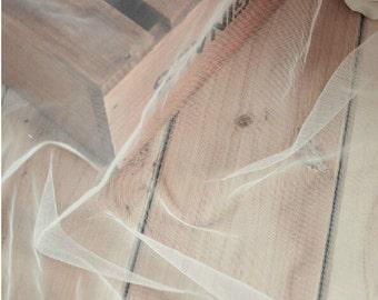 "62"" wide Ivory VERY Soft Drape Wedding Net Veil Tulle Bridal Fabric,5.5ft wedding veil"