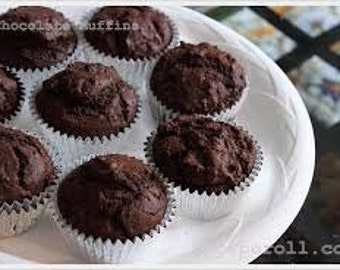 JUMBO Chocolate Muffins/ 12 ct/ Homemade/sugar free/gluten free/vegan options/Edible gifts/ Muffin Gifts/Muffin Baskets
