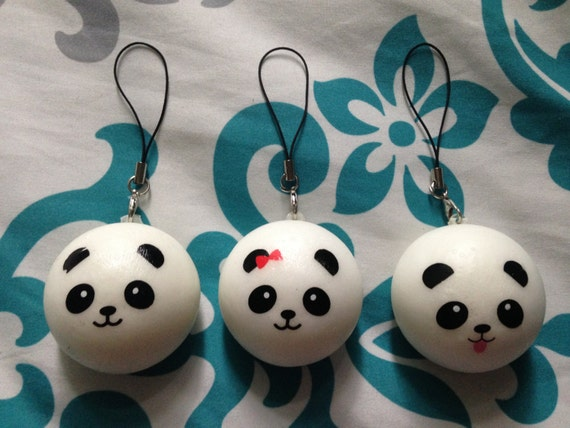 Mini Panda Bun Squishy by NCGraceCharms on Etsy