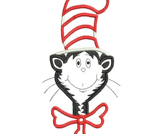 cat in the hat machine embroidery designs