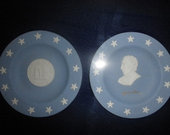 "Wedgwood Georgia Plates ""The Declaration Of Independence"" Framed"